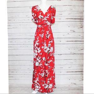 Modcloth Feeling Serene Maxi Dress in Ruby